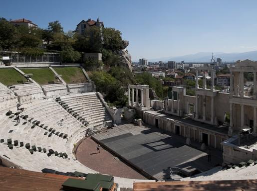 Plovdiv, római színház, Kép: wikimedia