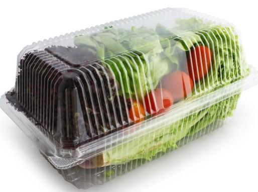 Saláta műanyag dobozban, Kép: laboratorium.hu